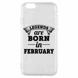 Чехол для iPhone 6/6S Legends are born in February