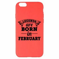 Чехол для iPhone 6 Plus/6S Plus Legends are born in February