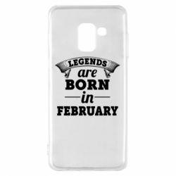 Чехол для Samsung A8 2018 Legends are born in February