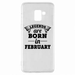 Чехол для Samsung A8+ 2018 Legends are born in February