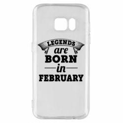 Чехол для Samsung S7 Legends are born in February