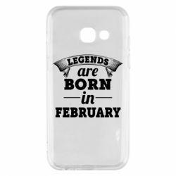 Чехол для Samsung A3 2017 Legends are born in February