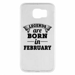 Чехол для Samsung S6 Legends are born in February