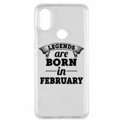 Чехол для Xiaomi Mi A2 Legends are born in February