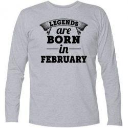 Футболка с длинным рукавом Legends are born in February