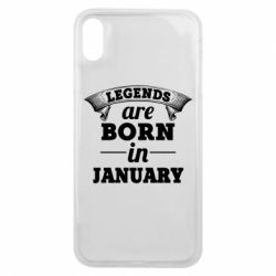 Чехол для iPhone Xs Max Legends are born in January
