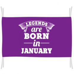 Флаг Legends are born in January