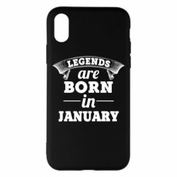 Чехол для iPhone X/Xs Legends are born in January