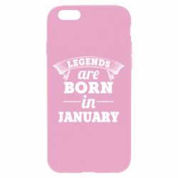 Чехол для iPhone 6/6S Legends are born in January