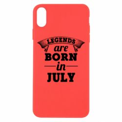 Чехол для iPhone Xs Max Legends are born in July