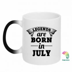 Кружка-хамелеон Legends are born in July