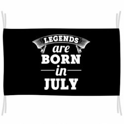 Флаг Legends are born in July