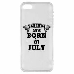 Чехол для iPhone5/5S/SE Legends are born in July