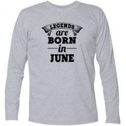 Купить Футболка с длинным рукавом Legends are born in June, FatLine