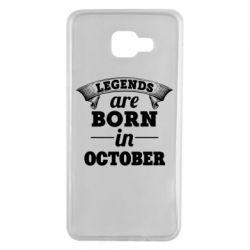 Чехол для Samsung A7 2016 Legends are born in October
