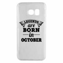 Чехол для Samsung S6 EDGE Legends are born in October