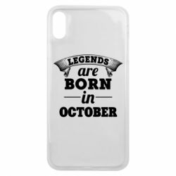 Чехол для iPhone Xs Max Legends are born in October