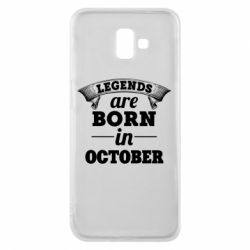 Чехол для Samsung J6 Plus 2018 Legends are born in October