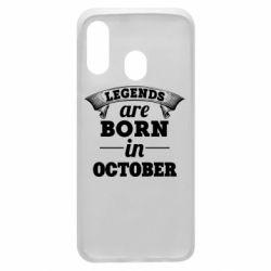 Чехол для Samsung A40 Legends are born in October