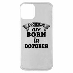 Чехол для iPhone 11 Legends are born in October
