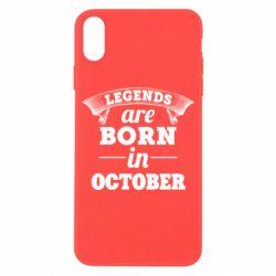 Чехол для iPhone X/Xs Legends are born in October
