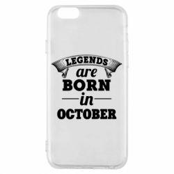 Чехол для iPhone 6/6S Legends are born in October