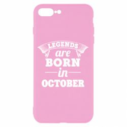 Чехол для iPhone 8 Plus Legends are born in October