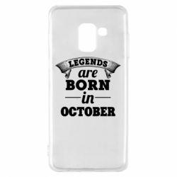 Чехол для Samsung A8 2018 Legends are born in October