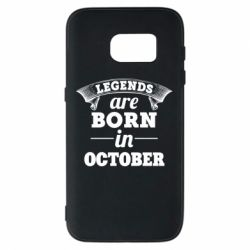 Чехол для Samsung S7 Legends are born in October