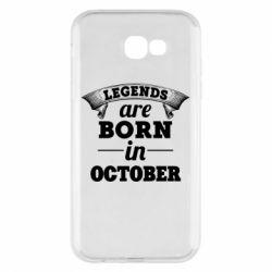 Чехол для Samsung A7 2017 Legends are born in October