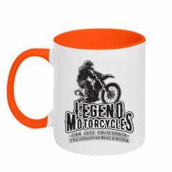Кружка двоколірна 320ml Legends motorcycle