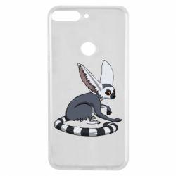 Купить Животные, Чехол для Huawei Y7 Prime 2018 Лемур, FatLine