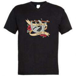 Чоловіча футболка з V-подібним вирізом Lenivets with a laptop
