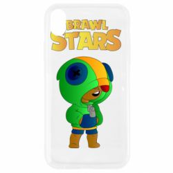 Чехол для iPhone XR Leon brawl stars