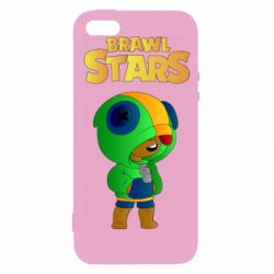 Чехол для iPhone5/5S/SE Leon brawl stars