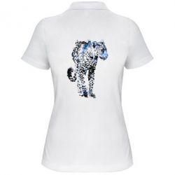 Жіноча футболка поло Леопард Акварель