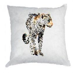 Подушка Леопард Акварель