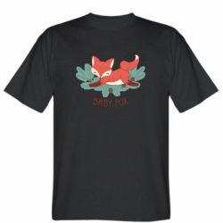 Мужская футболка Лесная семейка. Лисенок