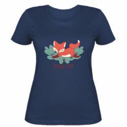 Женская футболка Лесная семейка. Лисенок