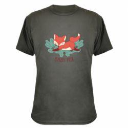 Камуфляжная футболка Лесная семейка. Лисенок
