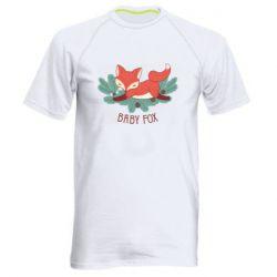 Мужская спортивная футболка Лесная семейка. Лисенок