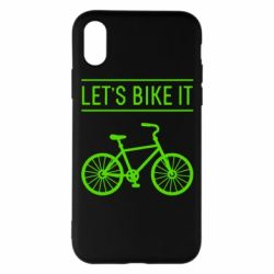 Чехол для iPhone X Let's Bike It - FatLine