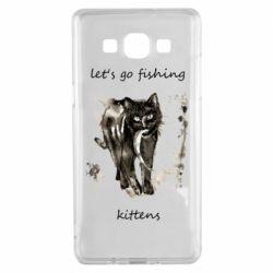 Чехол для Samsung A5 2015 Let's go fishing  kittens