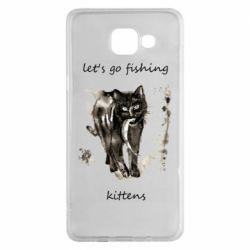 Чехол для Samsung A5 2016 Let's go fishing  kittens