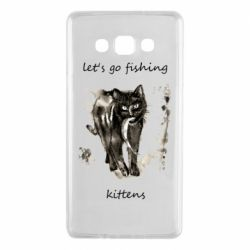 Чехол для Samsung A7 2015 Let's go fishing  kittens