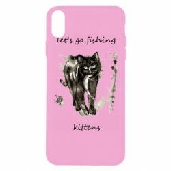 Чехол для iPhone Xs Max Let's go fishing  kittens