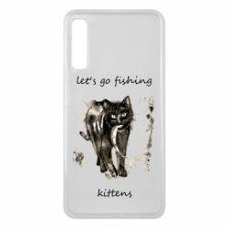 Чехол для Samsung A7 2018 Let's go fishing  kittens