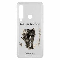 Чехол для Samsung A9 2018 Let's go fishing  kittens