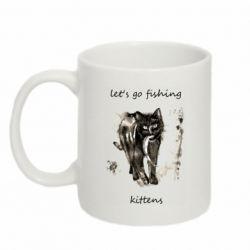 Кружка 320ml Let's go fishing  kittens