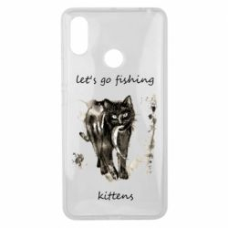 Чехол для Xiaomi Mi Max 3 Let's go fishing  kittens